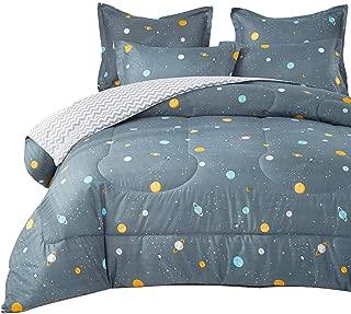 Uozzi Bedding Space Style Comforter with Sun Moon Earth Planets 100% Microfiber Hypoallergenic Boys Queen Duvet Insert 88x88 Kids (Space, Queen 88