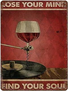 graman Plaque en métal vintage avec inscription « Lose Your Mind Find Your Soul » - 40,6 x 30,5 cm