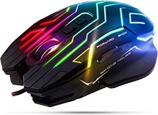 Meetion Gaming Mouse Lightweight with 6 Buttons, 200-4800 DPI, 3D Anti-Slip Roller, Computer Mice RGB Gamer Desktop Laptop...