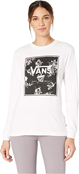 Boxed Logo Floral Tee