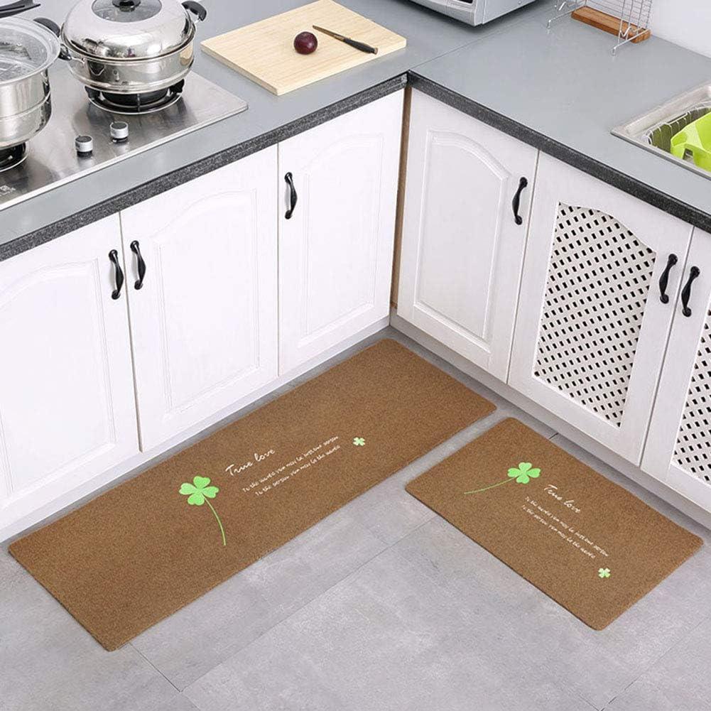 JYMDH 2-Piece Set Kitchen Mats Non Runner Excellent Su Absorbent Slip New mail order Rugs