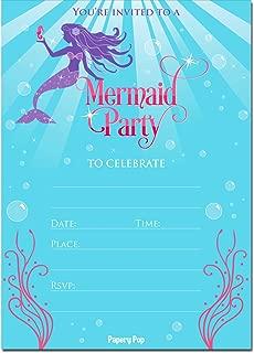 ariel photo birthday invitations