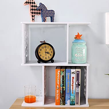 Desktop Bookshelf Magazine Shelf Student Desktop Small White Bookshelves Storage Shelves Children's Bookshelf Office Shel