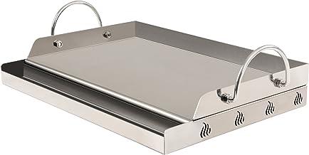 BBQ-Toro Plaque universelle rectangulaire pour barbecue, plancha en acier inoxydable, 64x40,5cm