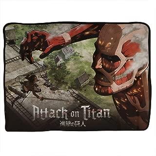 Classic Imports Attack on Titan Colossus Titan Wall Fleece Throw Blanket