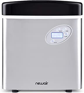 NewAir Portable Ice Maker 50 lb. Daily, Countertop Design, 3 Size Bullet Shaped Ice,..