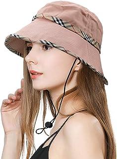 SIYWINA Damer hink sommar solhatt vikbar strandhatt UV-skydd brett brätte hatt för kvinnor