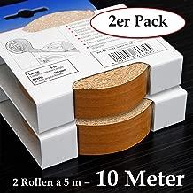 glatt und strukturlos Schmelzkleber f/ür Regalb/öden und M/öbelbauplatten Umleimer in Holz Dekor 2 Rollen = 10 Meter Kantenumleimer inkl 2-er Pack Melaminkantenumleimer in Erle 20 mm x 5 m Rolle