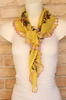 4a155a56f50ee Amazon.com: Yellow - Scarves & Wraps / Accessories: Handmade Products