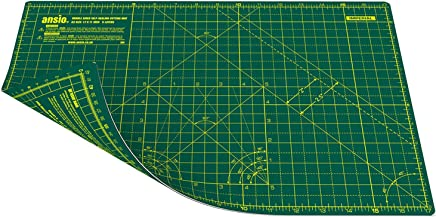 ANSIO Craft Cutting Mat Self Healing A3 Double Sided 5 Layers-Quilting, Sewing, Scrapbooking, Fabric & Papercraft-Imperial/Metric 17 Inch x 11 Inch / 42cm x 27cm Green