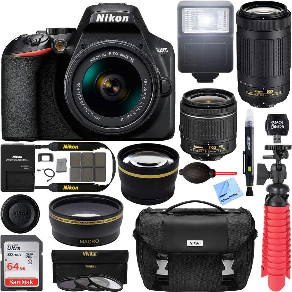 Nikon At the price 1588 D3500 24.2MP DSLR Camera AF-P Nippon regular agency Lens VR 18-55mm with