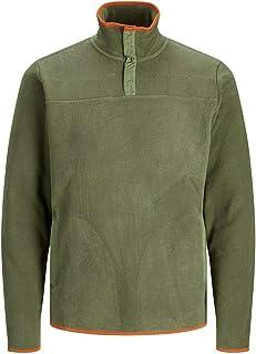Jack and Jones Turtle Neck Sweatshirts for Men Half Zip Fleece Winter Jacket Sweaters