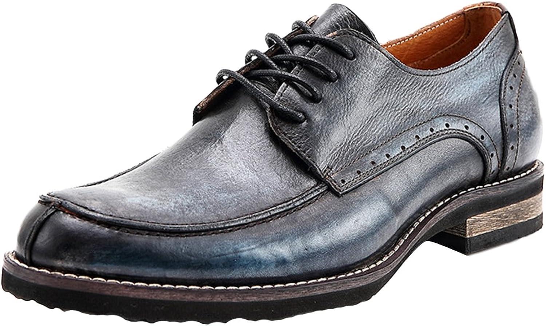 ICEgrå män män män läder Oxford skor Lace up Slip on Brogue skor blå 45  billigaste priset