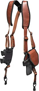 Image of Alien Gear ShapeShift Shoulder Holster (Brown Leather) for Concealed or Open Carry - Custom Fit to Your Gun (Select Pistol Size) - Right or Left Hand - Made in The USA