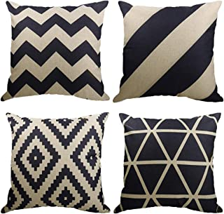 """Neusky 18"""" x 18"""" Pillow Covers   Decorative Square Pillow Cases Cushion Covers for Bedroom Living Room Car   Zippered Pill..."""