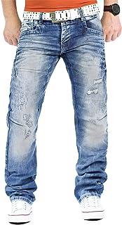 Cipo & Baxx Men's Jeans Casual Trousers Clubwear Designer Style Top