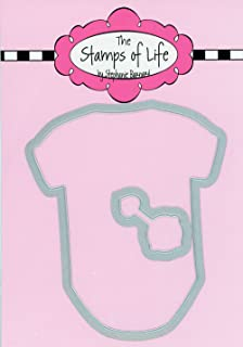 Onesie and Rattle Baby Die Set for Card-Making and Scrapbooking Supplies by The Stamps of Life - Newborn Metal Die Cuts