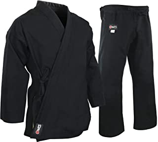 MACS Super Heavyweight Karate Uniform - Black Professional Kimono - Advanced 100% Cotton 15oz Karate Gi - Perfect for Competition or Training