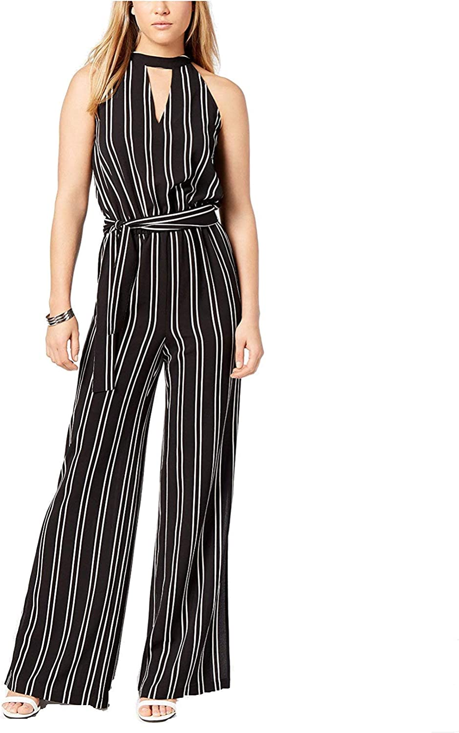 Bar Iii Womens Striped Jumpsuit