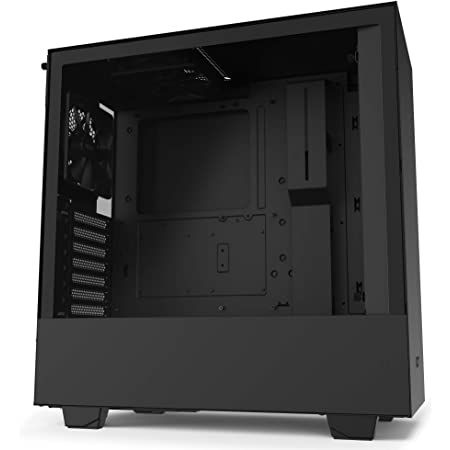 NZXT H510 - CA-H510B-B1 - Compact ATX Mid-Tower PC Gaming Case - Front I/O USB Type-C Port - Tempered Glass Side Panel - Cable Management System - Water-Cooling Ready - Black