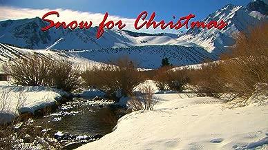 Snow for Christmas - enjoy a white Christmas wherever you live along with your favorite Christmas carols, turns your TV into art