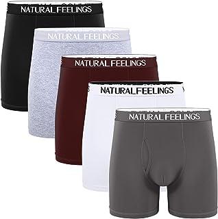 Lovemist Mens Underwear Boxers Mens Classic Long Leg Trunks Cotton and Breathable Boxer Shorts Multi Pack