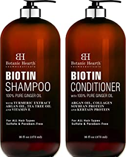 Sponsored Ad - BOTANIC HEARTH Biotin Shampoo and Conditioner Set - with Ginger Oil & Keratin for Hair Loss and Thinning Ha...