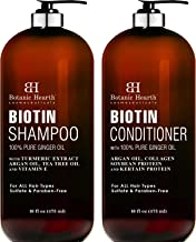 BOTANIC HEARTH Biotin Shampoo and Conditioner Set – with Ginger Oil & Keratin..