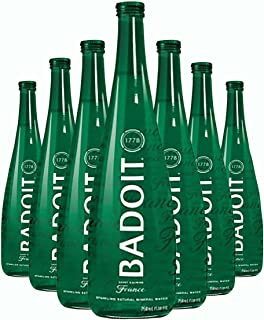 Badoit Sparkling Mineral Water, 25.4-oz. Glass Bottles (Count of 12)