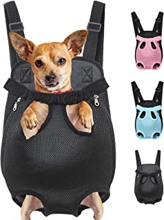 Henkelion Dog Carrier Backpack Front Pack, Pet Carrier Back Pack for Small Medium Cat Puppy Doggie, Dog Carrying Sling Backpack Dog Treat Holder for Chest
