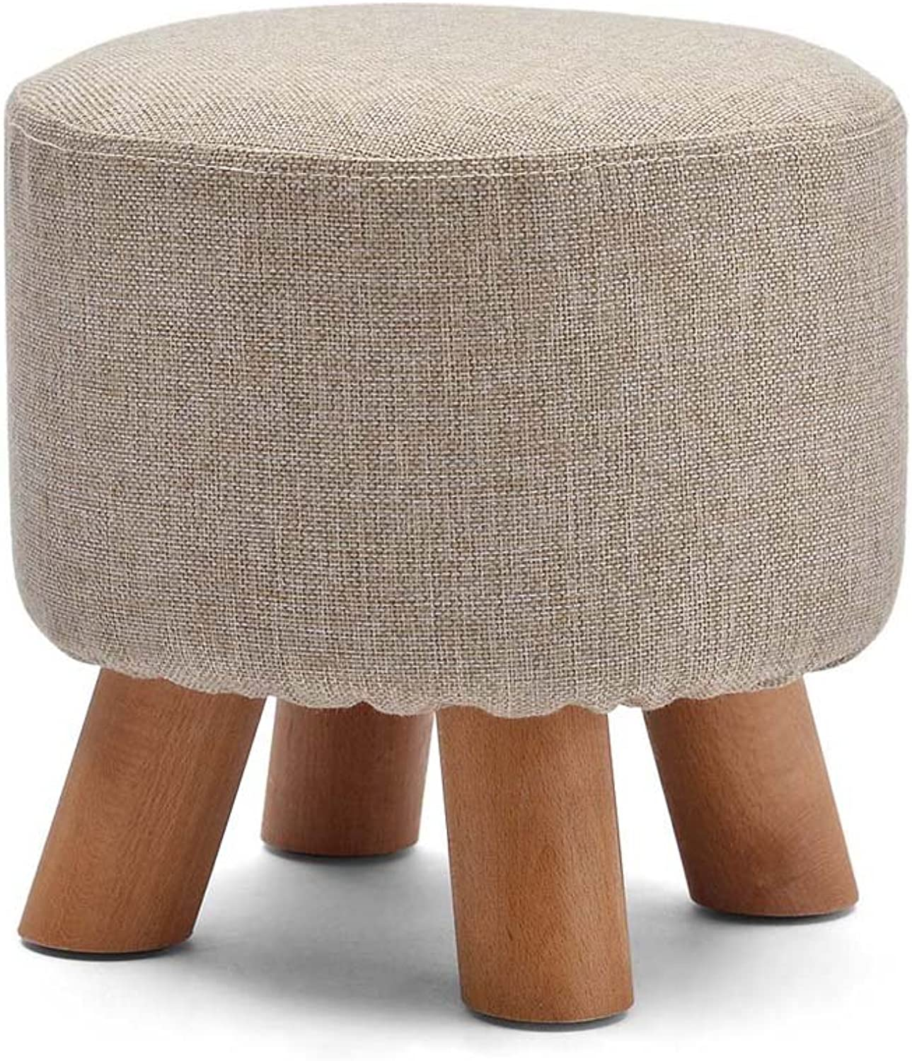 ZHANGRONG- Change shoes Stool Fashion Small Round Stool Solid Wood Low Stool Creative Wear shoes Stool Cloth Sofa Stool (a Variety of Styles Optional) (color   H)