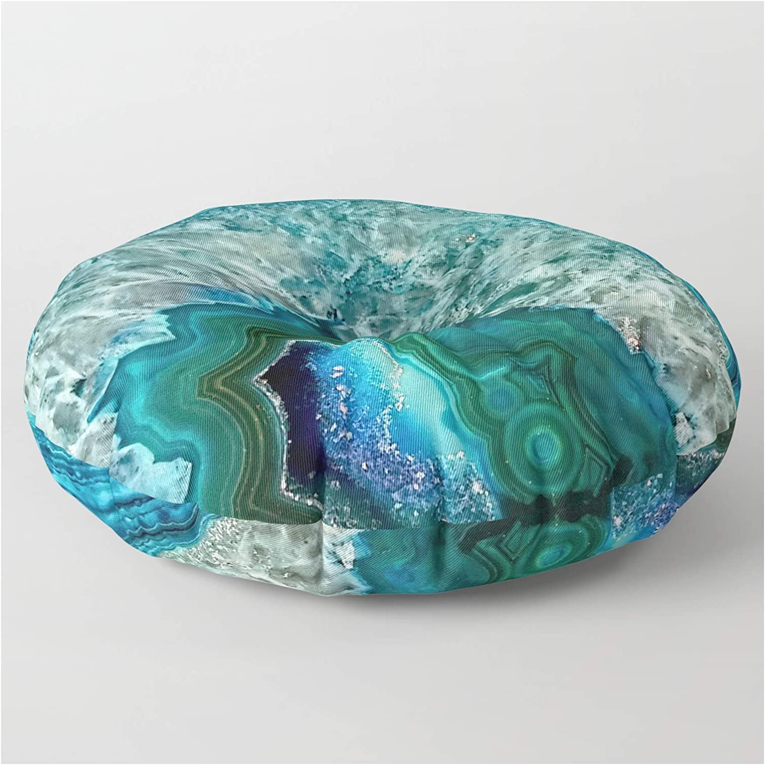Inventory cleanup selling sale Society6 Aqua Turquoise Agate Mineral Gem New Free Shipping on UtArt Floo Stone by