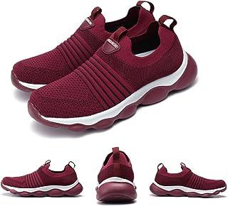 gracosy Baskets Basses Mode Femmes, Chaussures de Sports Course Été en Mesh sans Lacets Multisport Léger Confortable Sneak...