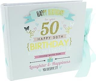 50th Birthday Girl Photo Album Hold 4 x 6