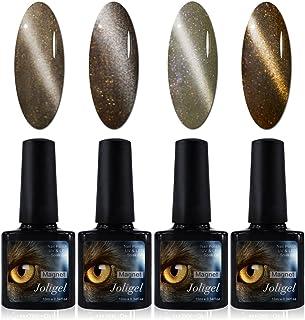 4x Esmaltes Semipermanentes Magnéticos para Uñas Gel Shellac UV LED para Manicura Pedicura Nail Art Ojo de Gato 3D Imán...