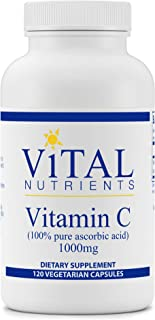 Vital Nutrients - Vitamin C (100% Pure Ascorbic Acid) - Potent Antioxidant to Support Iron Absorption - 1000 mg - 120 Vege...
