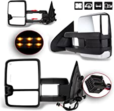 SCITOO Towing Mirror fit 2014-2017 Chevy Silverado/GMC Sierra 1500 2015-2017 Chevy Silverado/GMC Sierra2500 HD 3500HD Power Heated Signal Light Side Pair Mirrors
