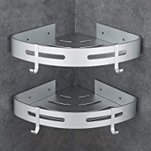 Hoomtaook Estanteria Baño Ducha Rinconera Estantería de Esquina para Baño Ducha Aluminio, Acabado Mate, Estantes, 2 piezas Plata