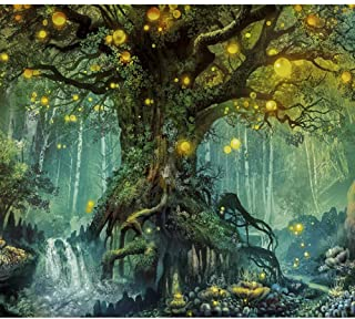 Lapoea DIY Oil Painting Paint by Number Kits Painting for Adults and Kids Arts Craft for Home Wall Decor Firefly Forest 40x50CM