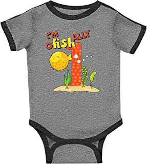I'm O-Fish-Ally One- Cute Puffer Fish First Birthday Infant Creeper