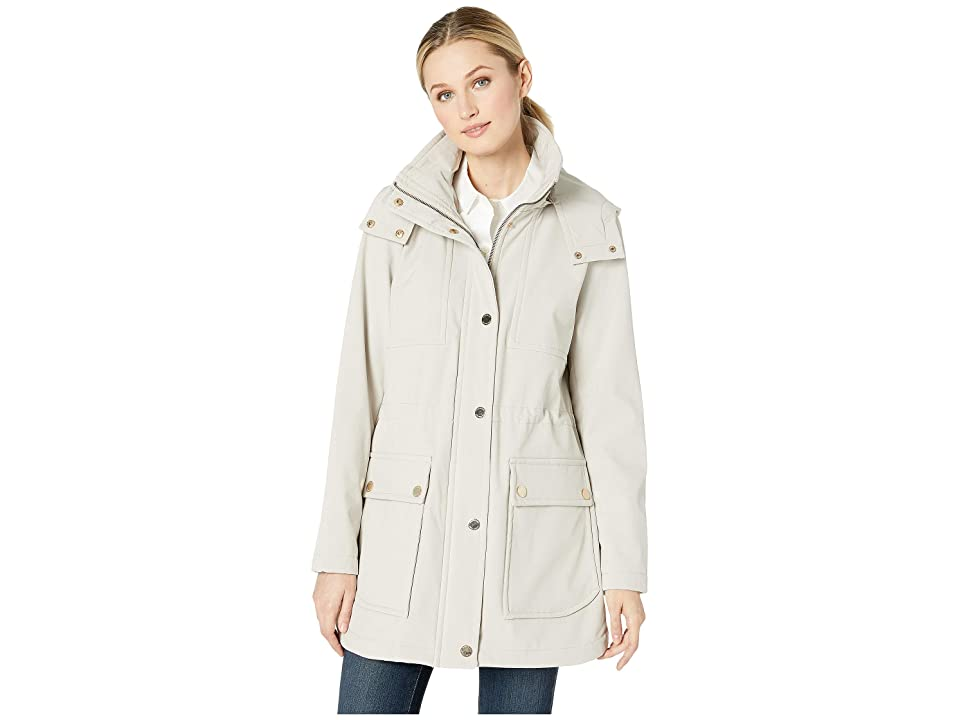 Kenneth Cole New York Soft Shell Hooded Anorak w/ Patch Pockets (Bone) Women