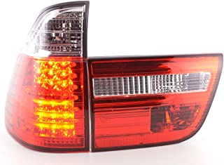 europetuning 03451 FEUX ROUGES CLAIRS A LEDS AVEC BANDES LONGUES POUR X5 E53 1999-2003 PHASE 1