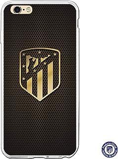 Atlético de Madrid Funda para iPhone 6 Plus y iPhone 6S Plus Escudo Oro - Funda móvil de Silicona Flexible y Resistente para Proteger tu Smartphone