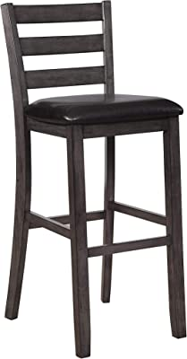 Coaster Set of 2 Casual Warm Grey Bar-Height Stool 180163