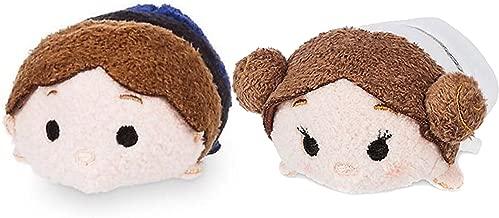 Mini Disney Tsum Tsum Plush Star Wars Bundle Set of 2 Tsum's- Princess Leia and Han Solo