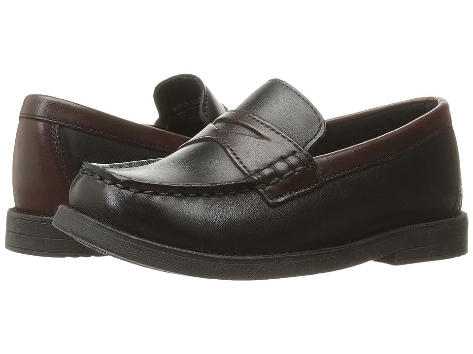Florsheim Kids Croquet Penny Loafer Jr. (Toddler/Little Kid/Big Kid) (Black/Brown) Boys Shoes