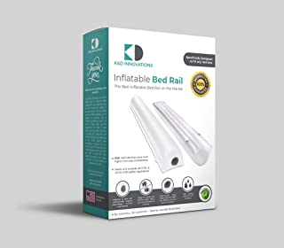 Inflatable Bed Rails with Magnetic Clips | Keep Your Active Kids & Toddlers Safe While Sleeping | Portable Bumpers with Valves | Suits All Beds & Sheets | 48x7x6 inch | 2-Pack