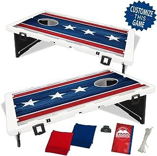Baggo Americana USA US Flag Bean Bag Toss Portable Cornhole Tailgate Game with