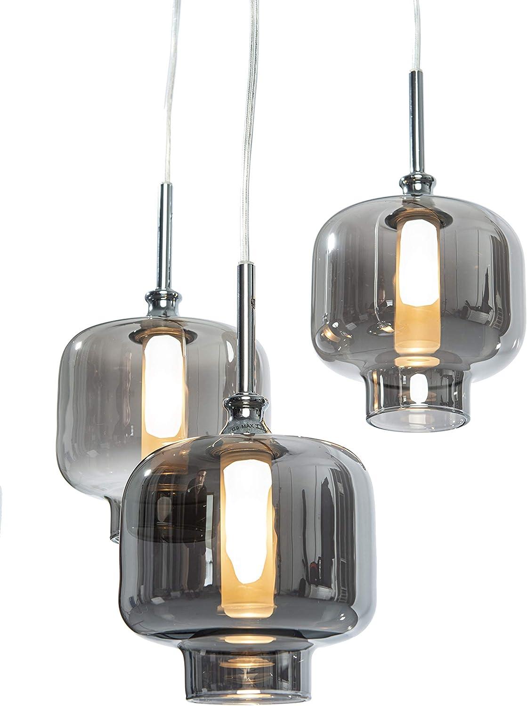 HNGELEUCHTE VITREA chrom inkl. LEDs (Pendelleuchte Hngelampe Deckenlampe Pendellampe Deckenleuchte)