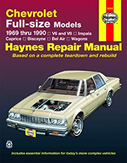 Chevrolet full-size V6 & V8 Impala, Caprice, Biscayne, Bel Air, Kingswood & Townsman (69-90) Haynes Repair Manual (Does not include information specific to diesel engines.) (Haynes Repair Manuals)